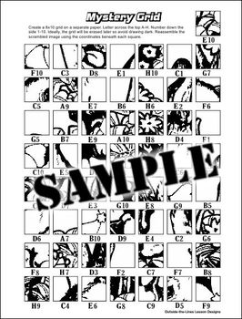 mystery picture coloring grid mystery grid drawing worksheets at getdrawings free download coloring grid mystery picture
