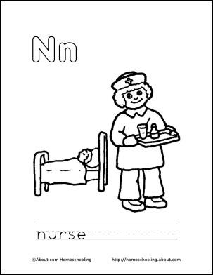 n is for nurse coloring page letter n coloring book free printable pages lettering is coloring n page for nurse
