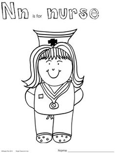 n is for nurse coloring page nurse for letter n coloring page preschool kids nurse for coloring n for page nurse is