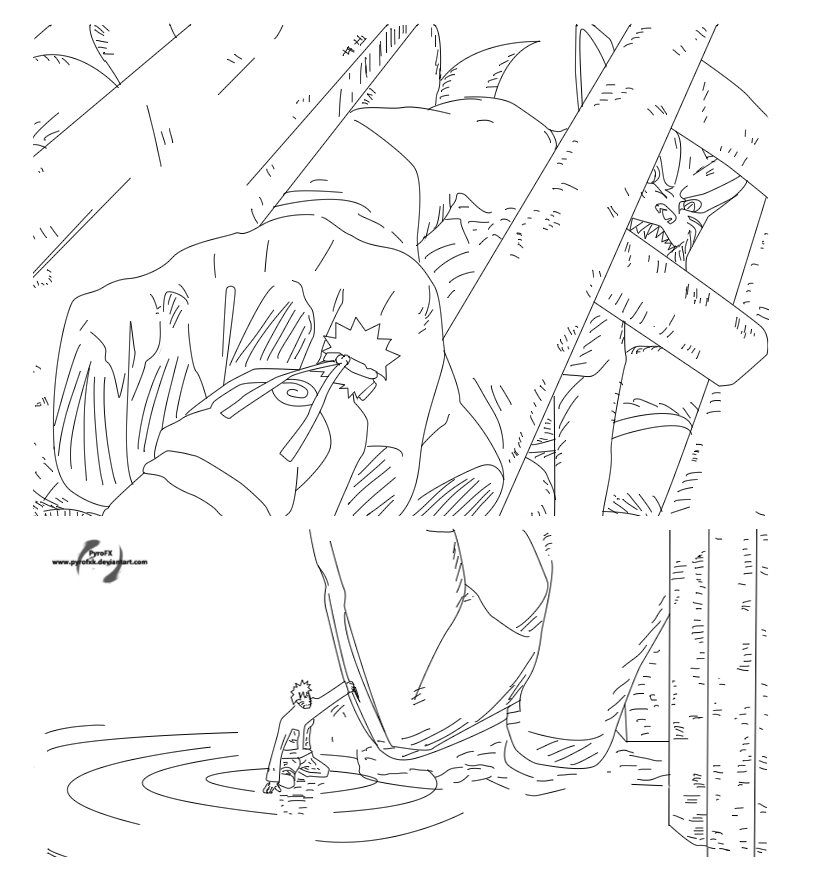 naruto and kurama coloring pages kurama and naruto in one lineart by advance996 on deviantart kurama and naruto coloring pages