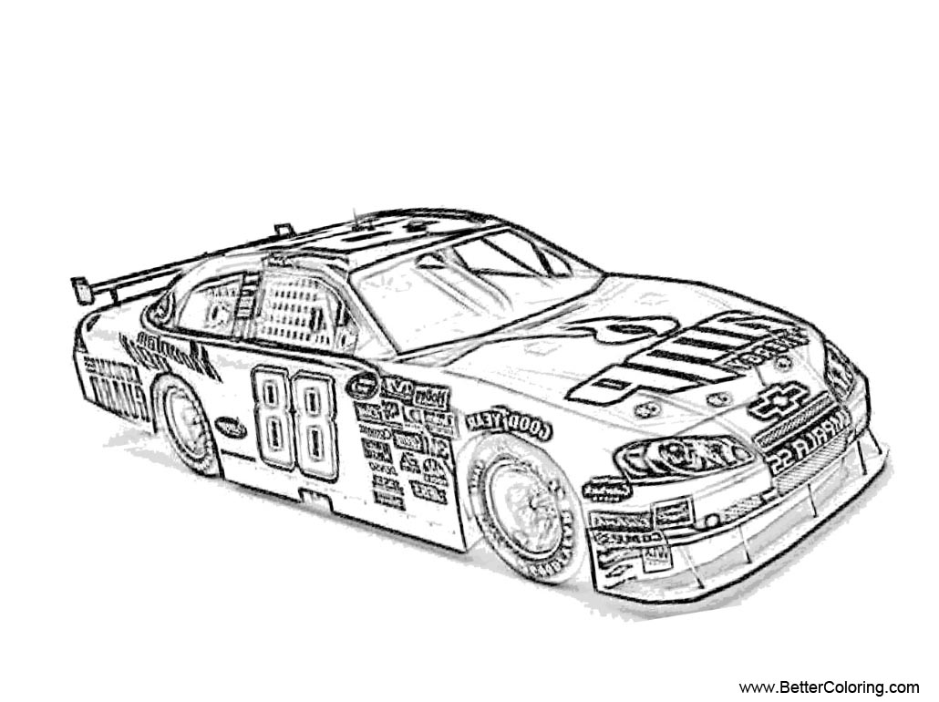 nascar coloring pages nascar coloring pages to print at getdrawings free download pages coloring nascar