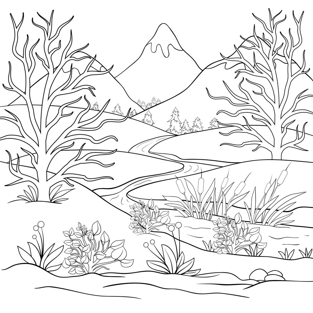 nature coloring pages for kids printable nature coloring pages for kids for coloring kids pages nature