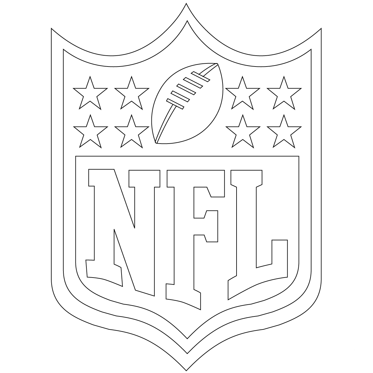 nfl coloring pages nfl team logos coloring pages getcoloringpagescom pages coloring nfl