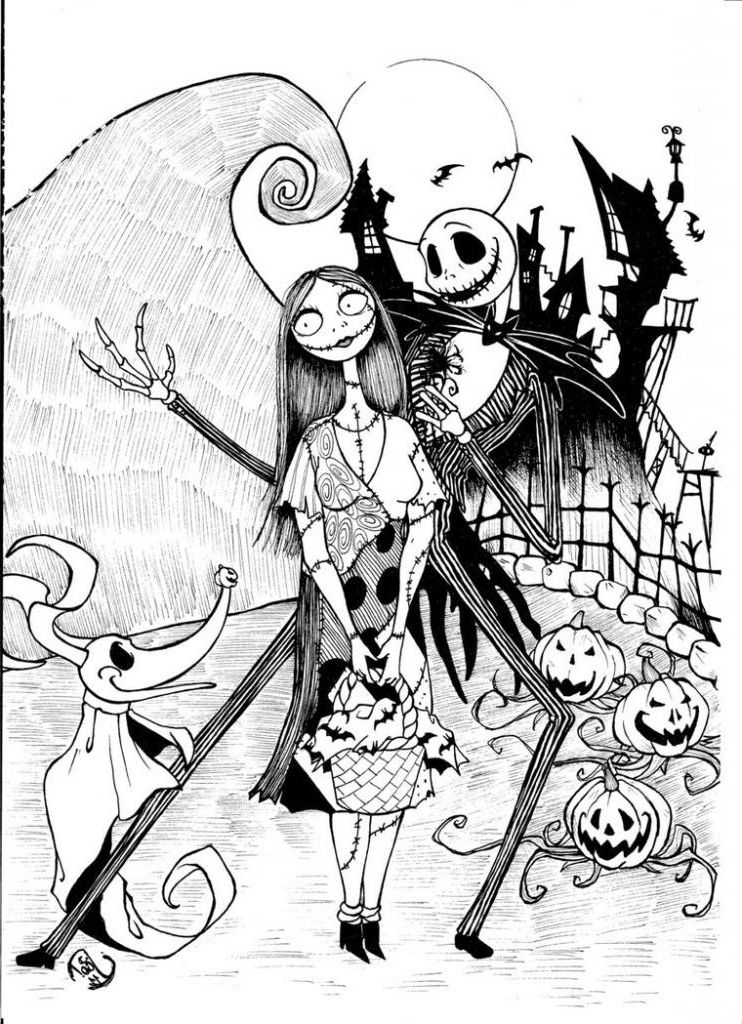 nightmare before christmas coloring free printable nightmare before christmas coloring pages before christmas nightmare coloring
