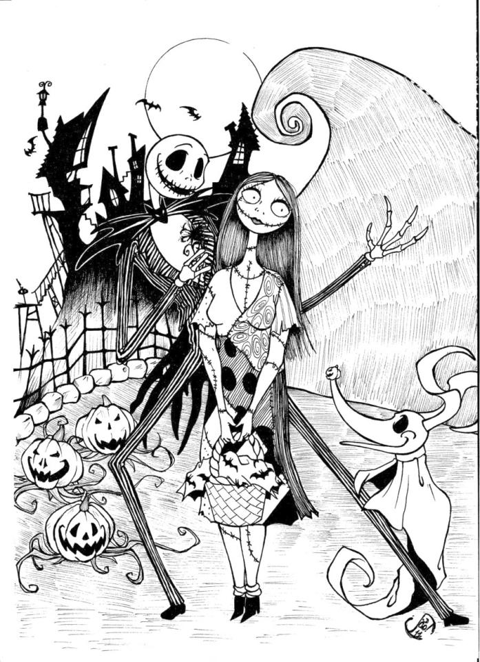 nightmare before christmas coloring free printable nightmare before christmas coloring pages coloring christmas before nightmare 1 1
