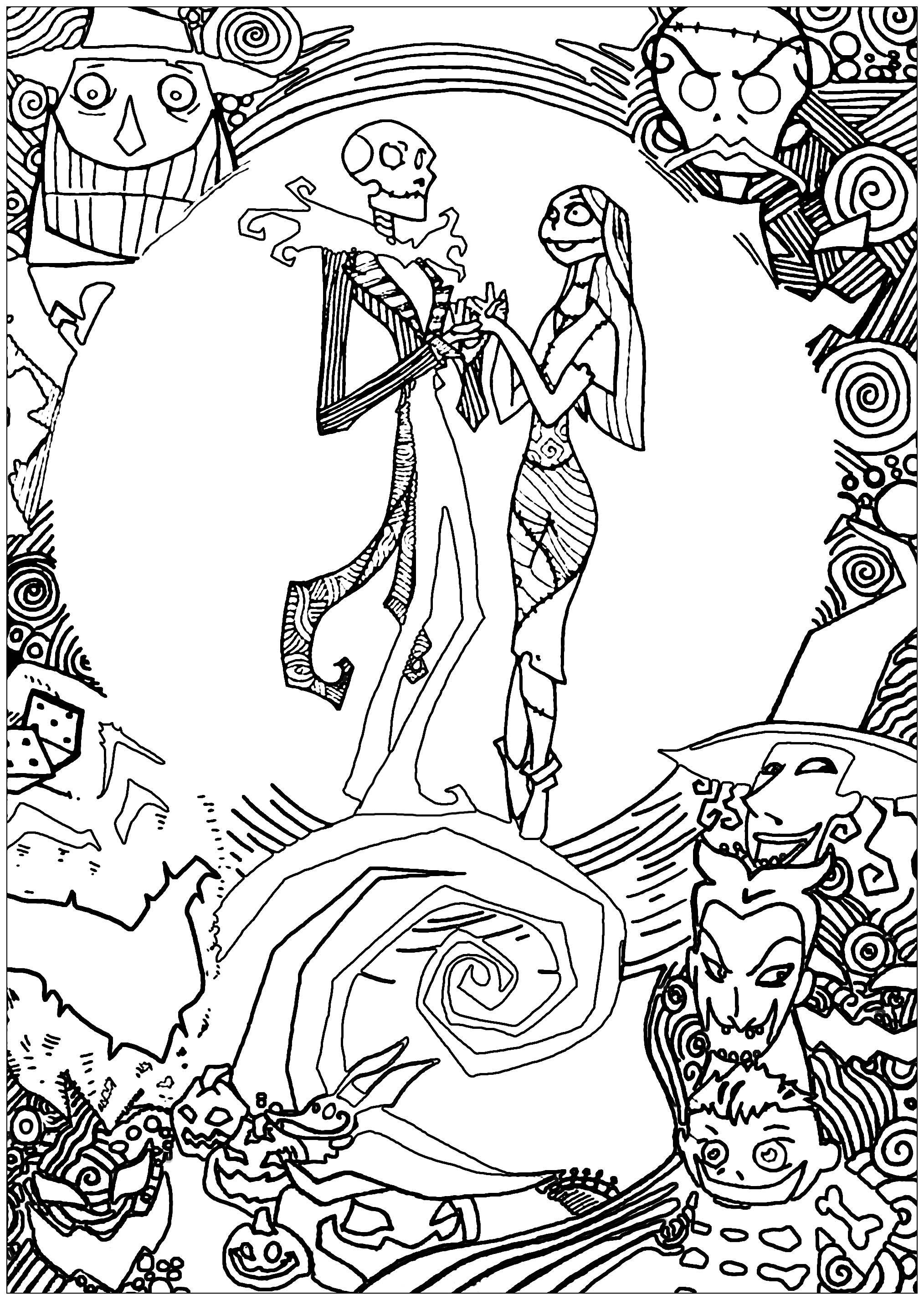 nightmare before christmas coloring free printable nightmare before christmas coloring pages nightmare coloring before christmas 1 1