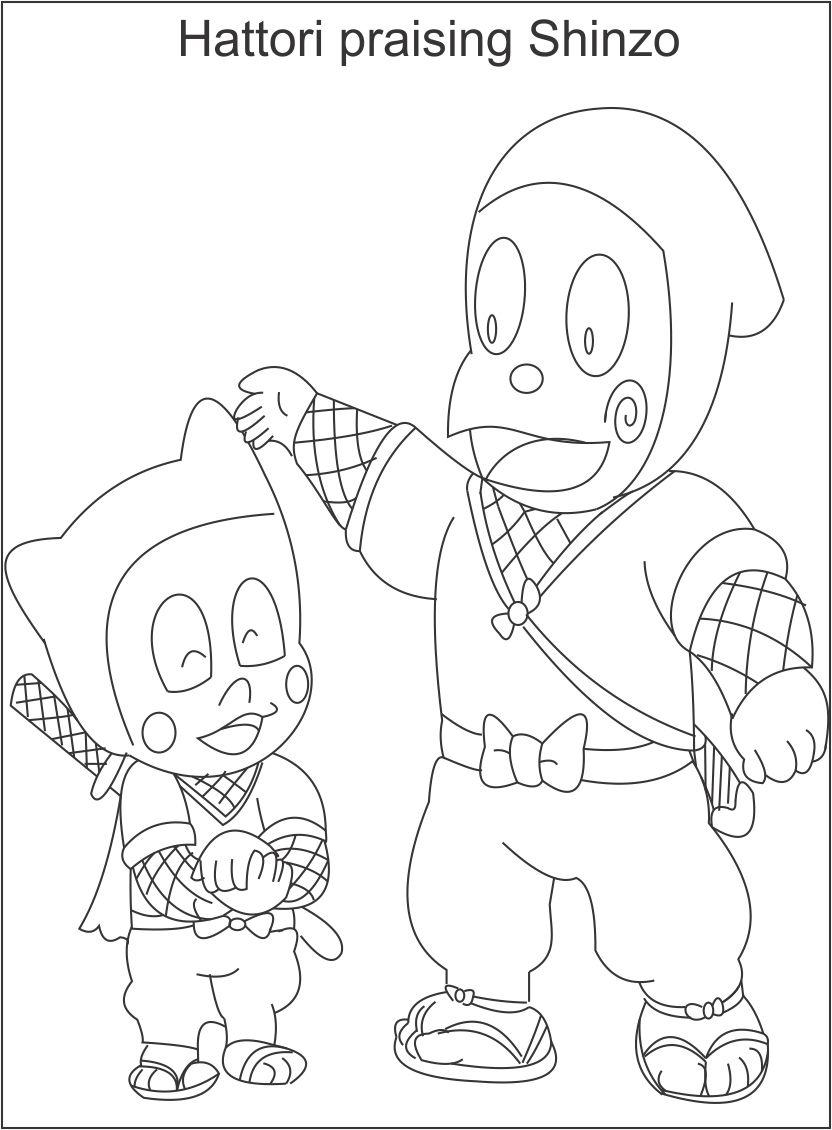 ninja hattori coloring pages huge collection of ninja hattori colouring pages hattori ninja coloring pages