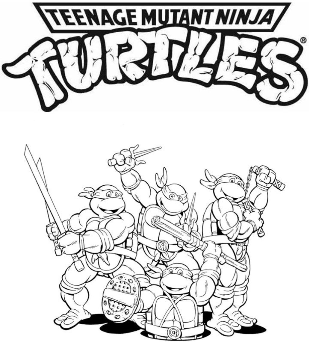 ninja turtle printable coloring pages ninja turtles coloring pages from animated cartoons of ninja coloring printable pages turtle