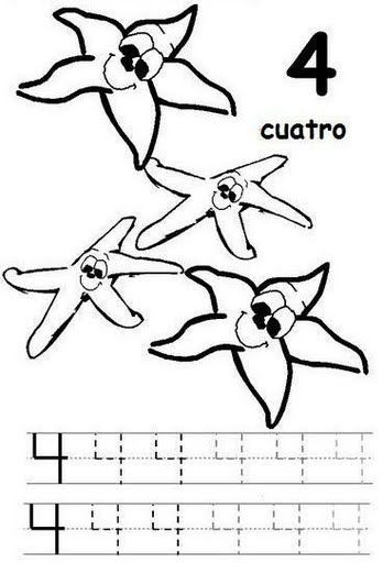 number 4 coloring pages preschool number 4 coloring page getcoloringpagescom preschool pages 4 number coloring