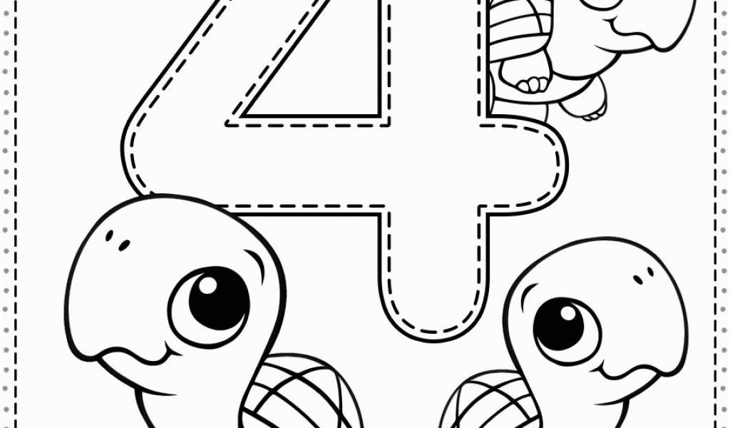 number 4 coloring pages preschool number 4 coloring sheets clipart black and white 20 free 4 number pages preschool coloring