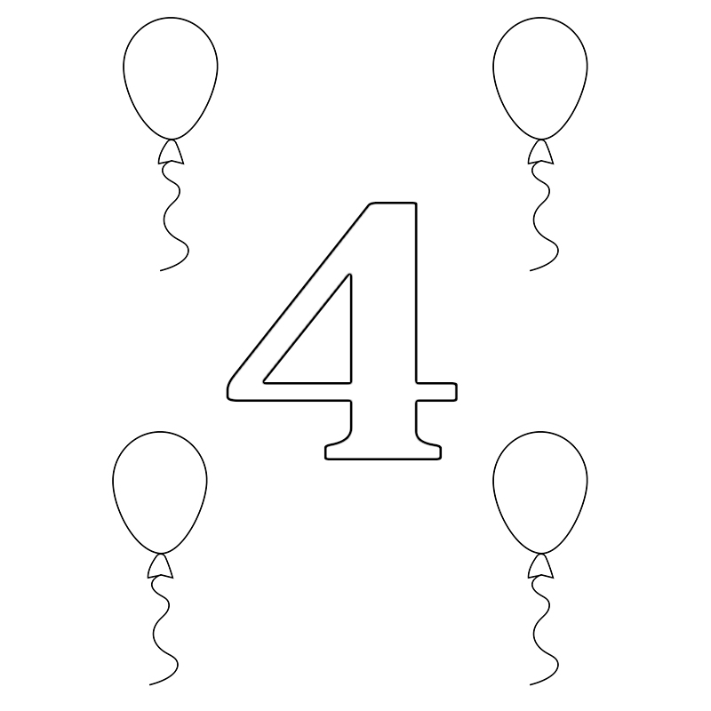 number 4 coloring pages preschool pictures of number 4 clipartsco preschool pages 4 number coloring