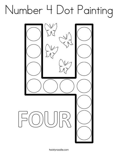 number 4 coloring worksheets classic alphabet printables learning letters free 4 number coloring worksheets