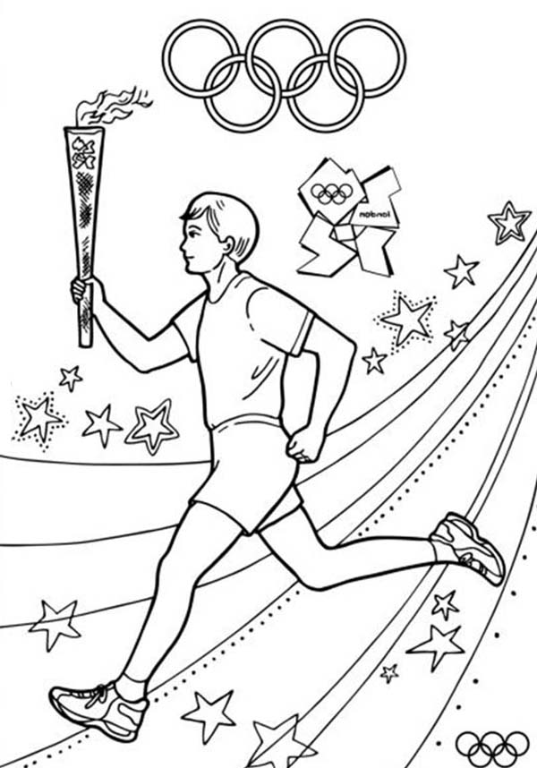 olympic colouring sheets olympic games about to start once olympic torch light olympic colouring sheets