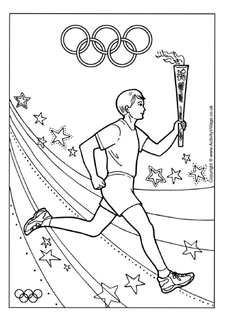olympic colouring sheets olympic torch relay colouring page olympic sheets colouring