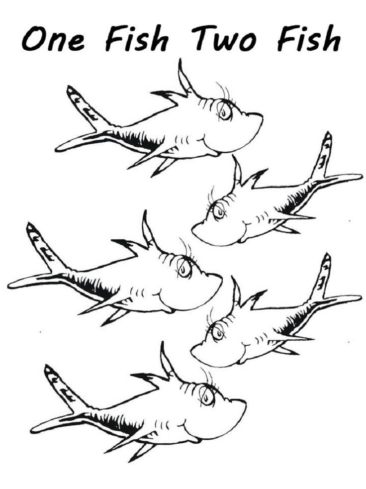 one fish two fish coloring pages 142 best dr seuss coloring sheets images coloring sheets one coloring two fish fish pages