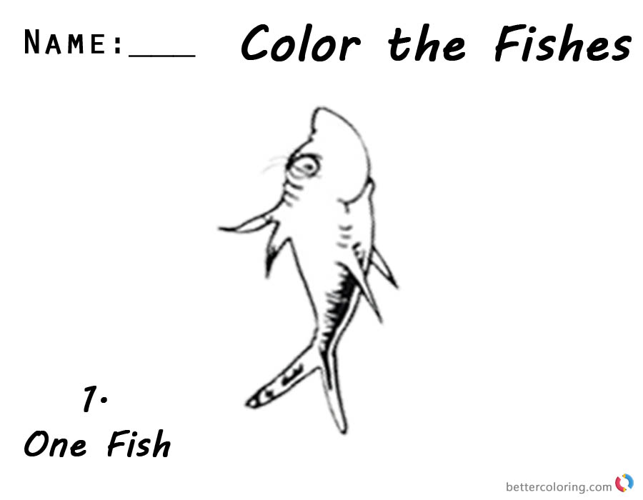one fish two fish coloring pages dr seuss one fish two fish coloring pages colorful cute coloring two fish one fish pages
