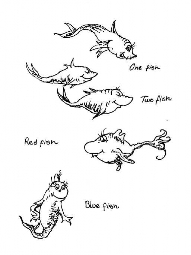 one fish two fish coloring pages one fish two fish coloring page dr seuss coloring pages fish pages coloring two fish one