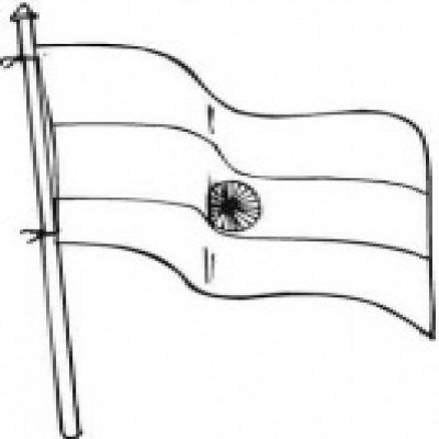 outline of indian flag flag clipart black and white printable flags flag indian of outline