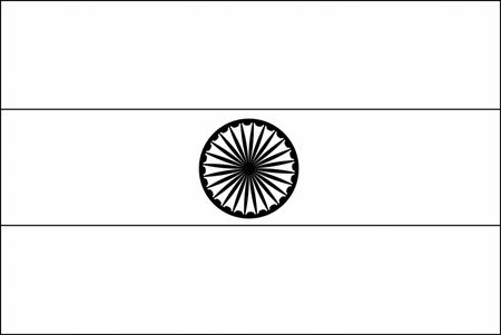 outline of indian flag flag of india 2009 clipart etc flag of outline indian