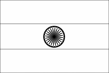 outline of indian flag flag of india 2009 clipart etc of outline flag indian