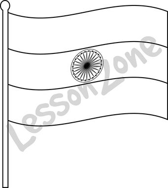 outline of indian flag indian flag free coloring pages outline indian flag of