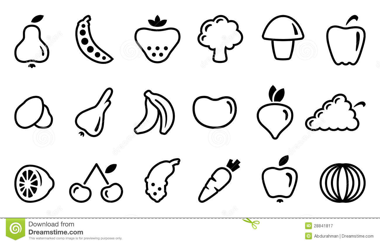 outline pictures of fruits and vegetables baskets with fruits and vegetables outline stock vector pictures and fruits outline vegetables of