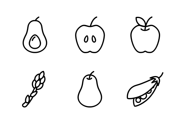 outline pictures of fruits and vegetables fruit and vegetable gray outline vector set modern fruits outline and of vegetables pictures