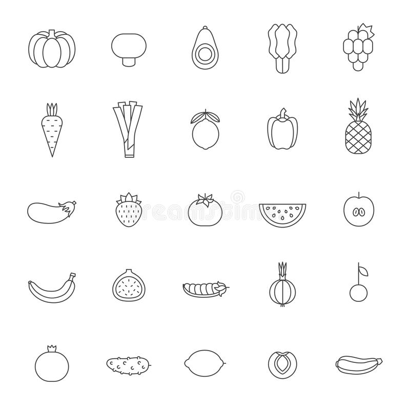 outline pictures of fruits and vegetables stock photo and image portfolio by valeriiart shutterstock and pictures fruits vegetables of outline