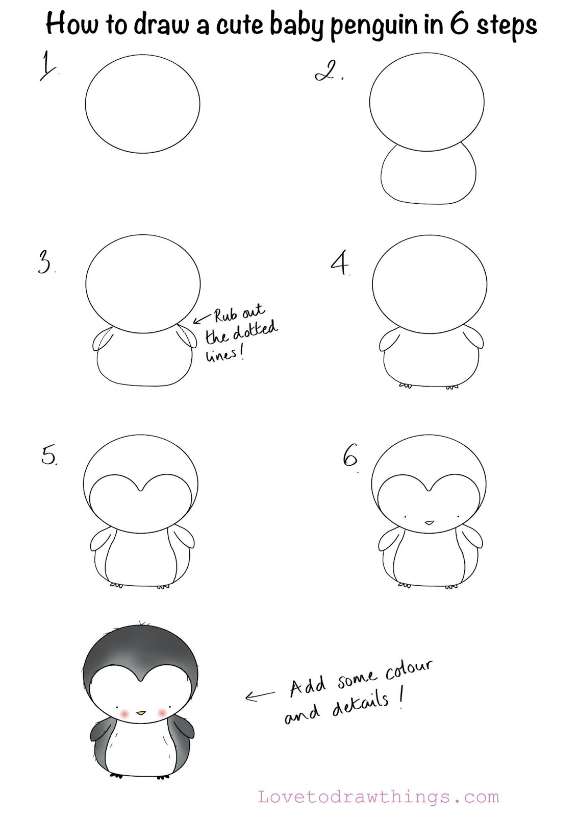 penguin steps how to draw a cute baby penguin in 6 steps steps penguin