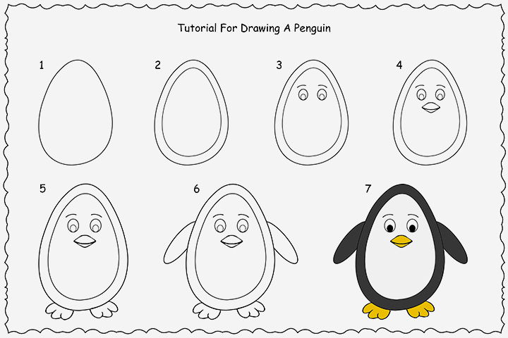 penguin steps how to draw a penguin easy drawing step by step perfect penguin steps