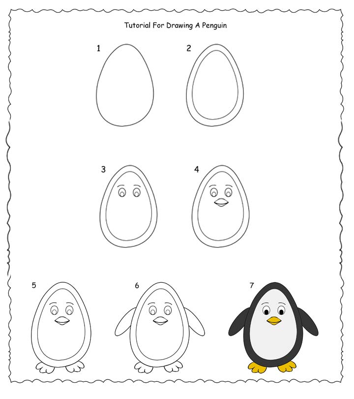 penguin steps how to draw a penguin step by step easy tutorial for kids penguin steps
