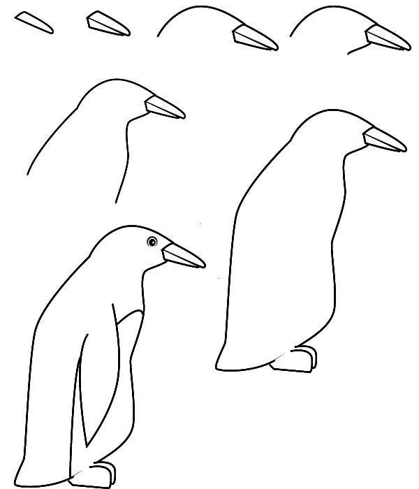 penguin steps image result for how to draw a penguin easy penguin penguin steps