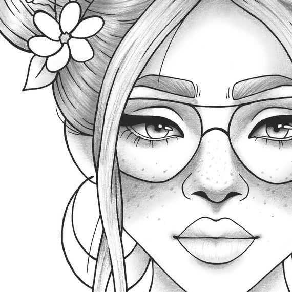 people coloring adult coloring page girl portrait and clothes colouring people coloring
