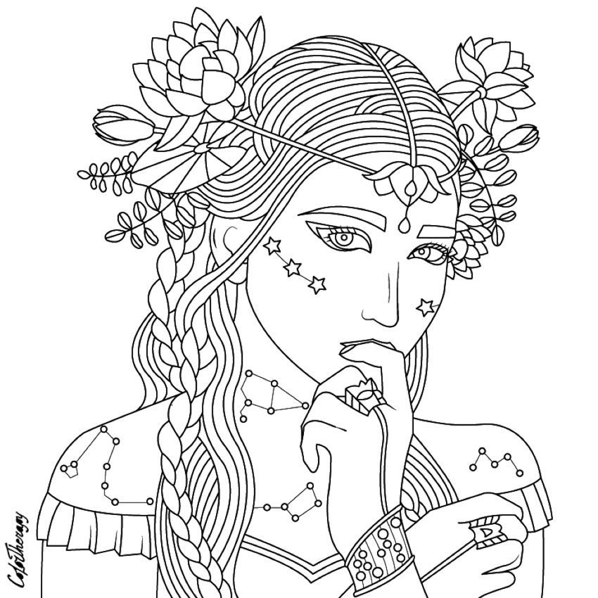 people coloring coloring pages for adults beauty coloring page beautiful coloring people
