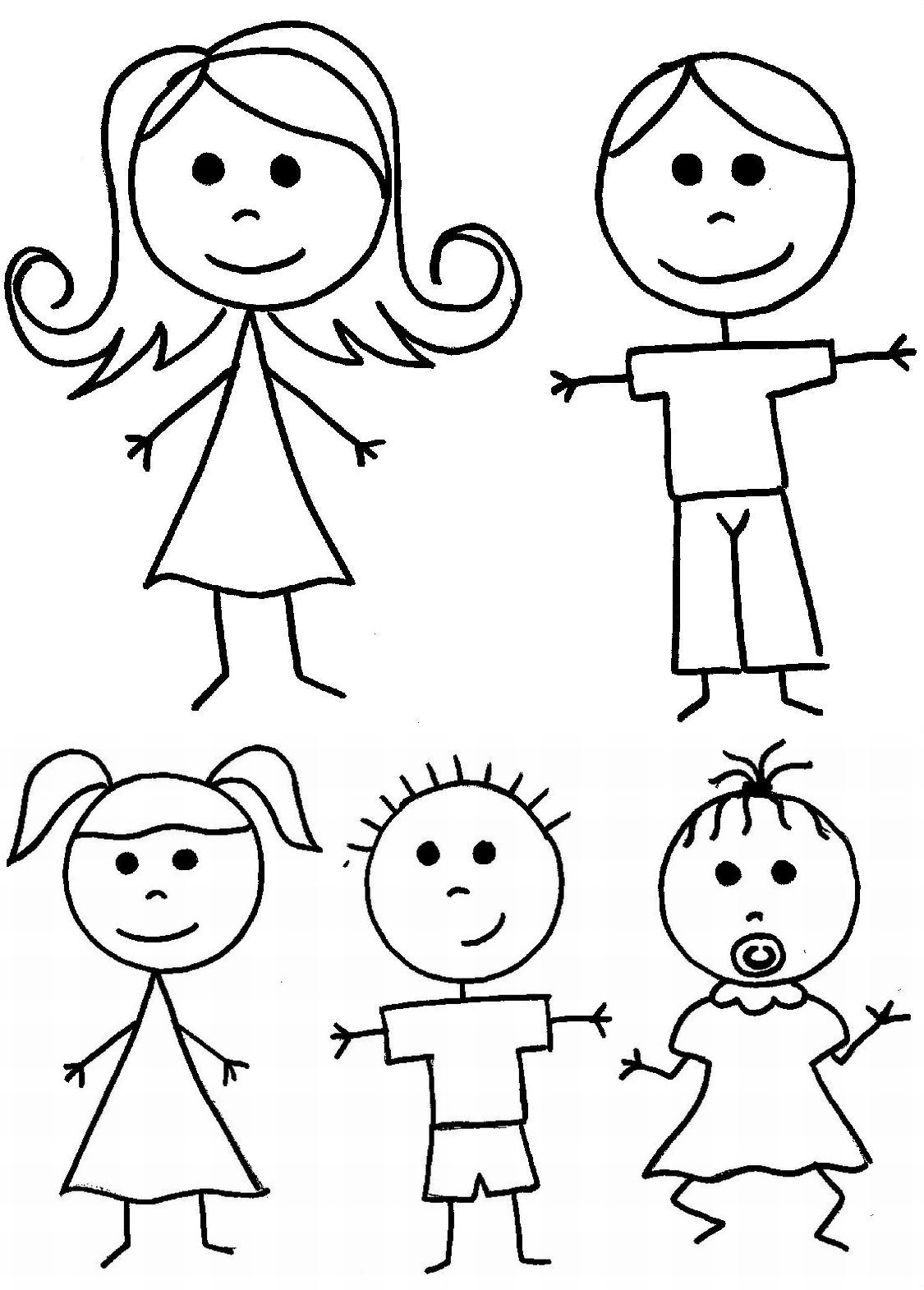 people coloring stick people coloring pages at getcoloringscom free coloring people