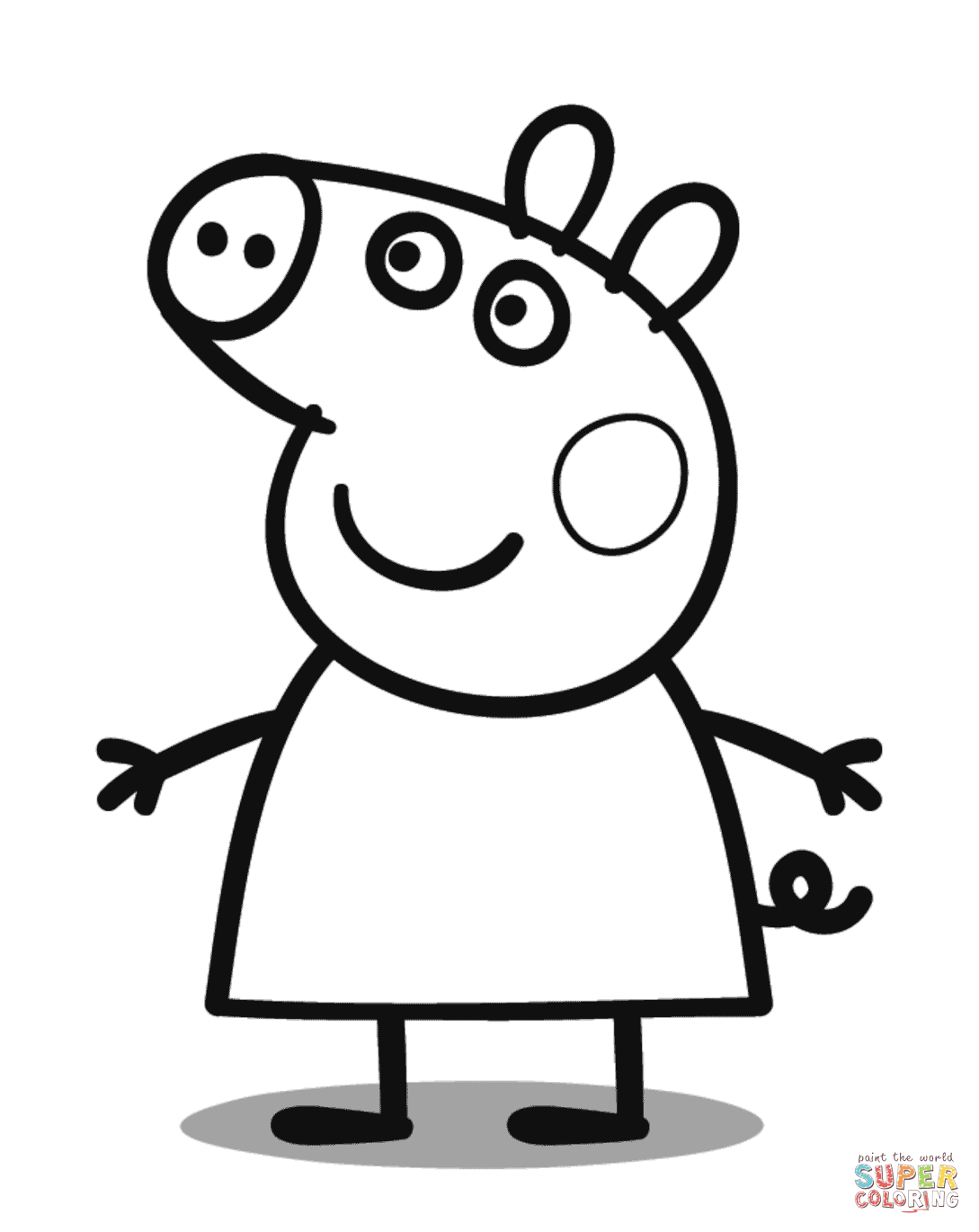 peppa pig black and white 30 printable peppa pig coloring pages you wont find and peppa black pig white