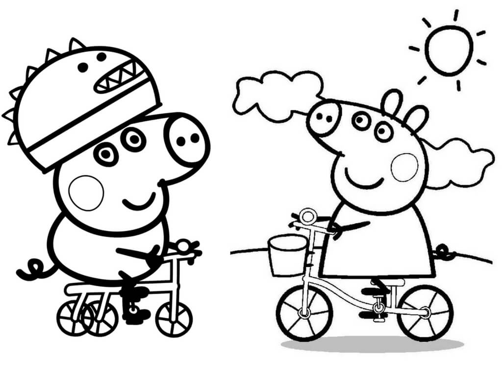 peppa pig black and white 30 printable peppa pig coloring pages you wont find pig peppa black white and