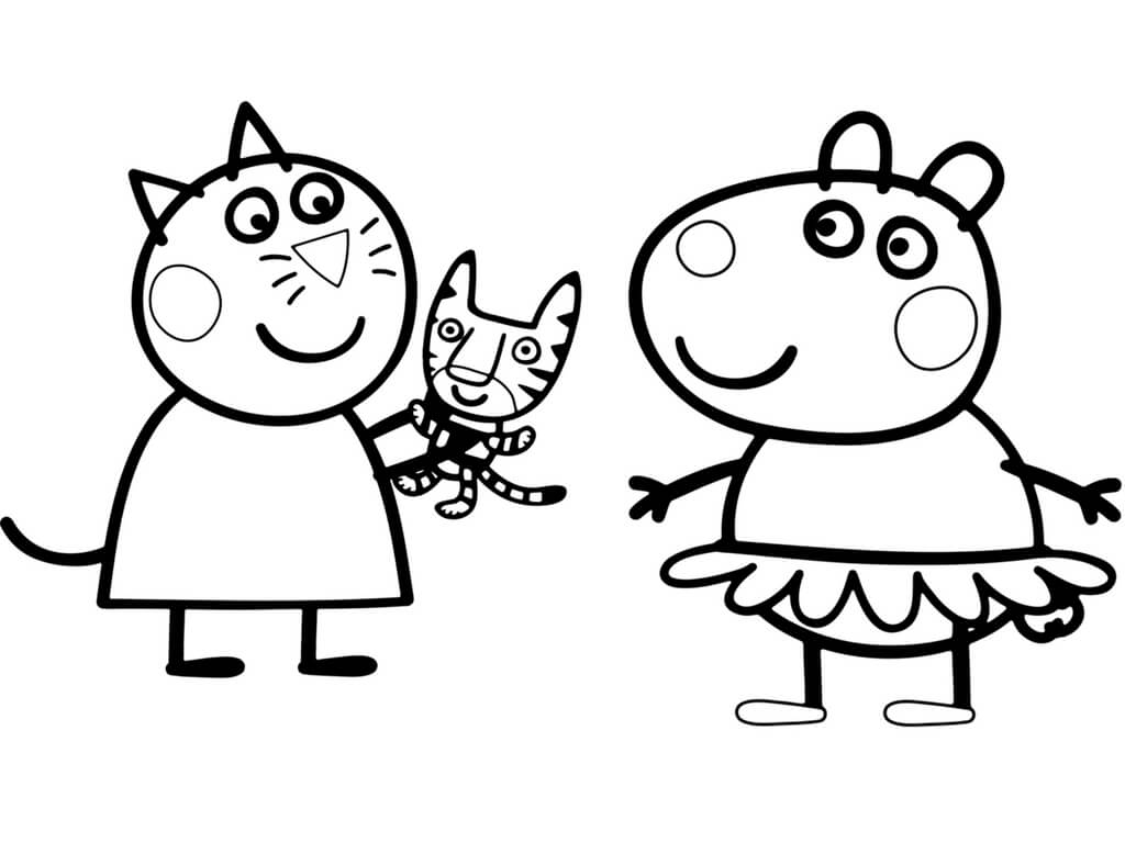 peppa pig black and white 30 printable peppa pig coloring pages you wont find white and peppa black pig