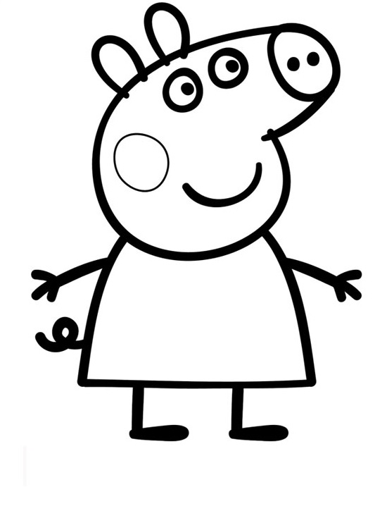 peppa pig black and white pig head outline clipartsco white black and pig peppa