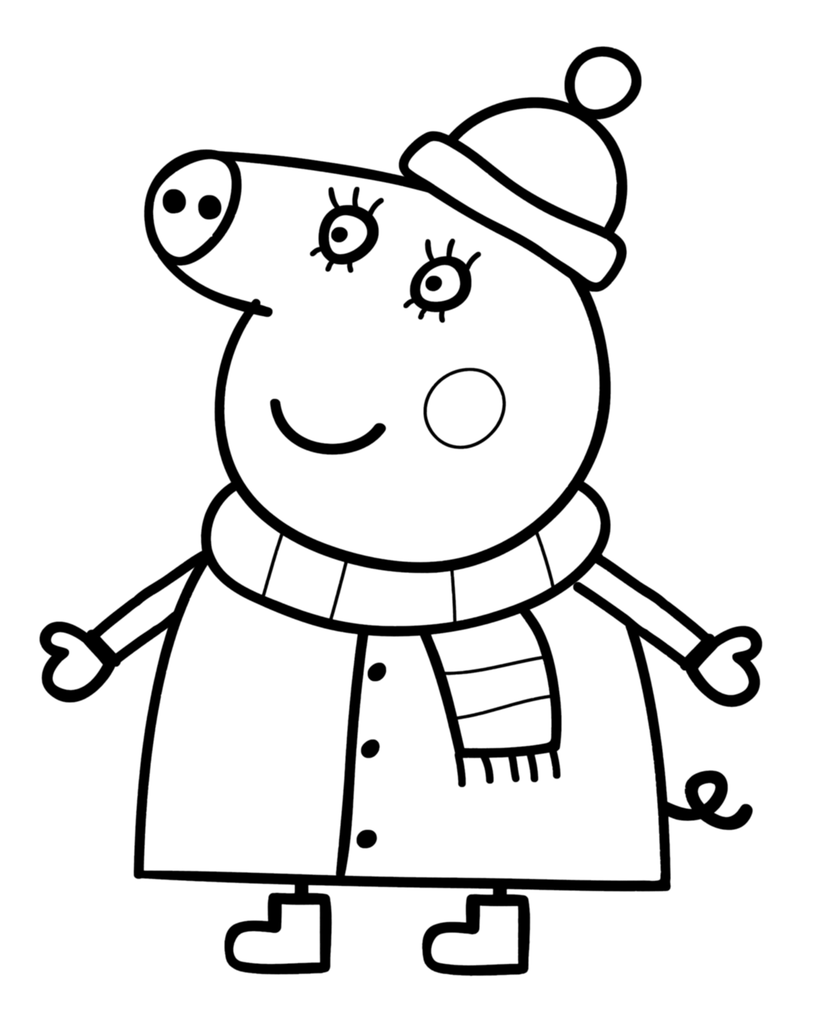 peppa pig coloring in 30 printable peppa pig coloring pages you wont find pig in peppa coloring