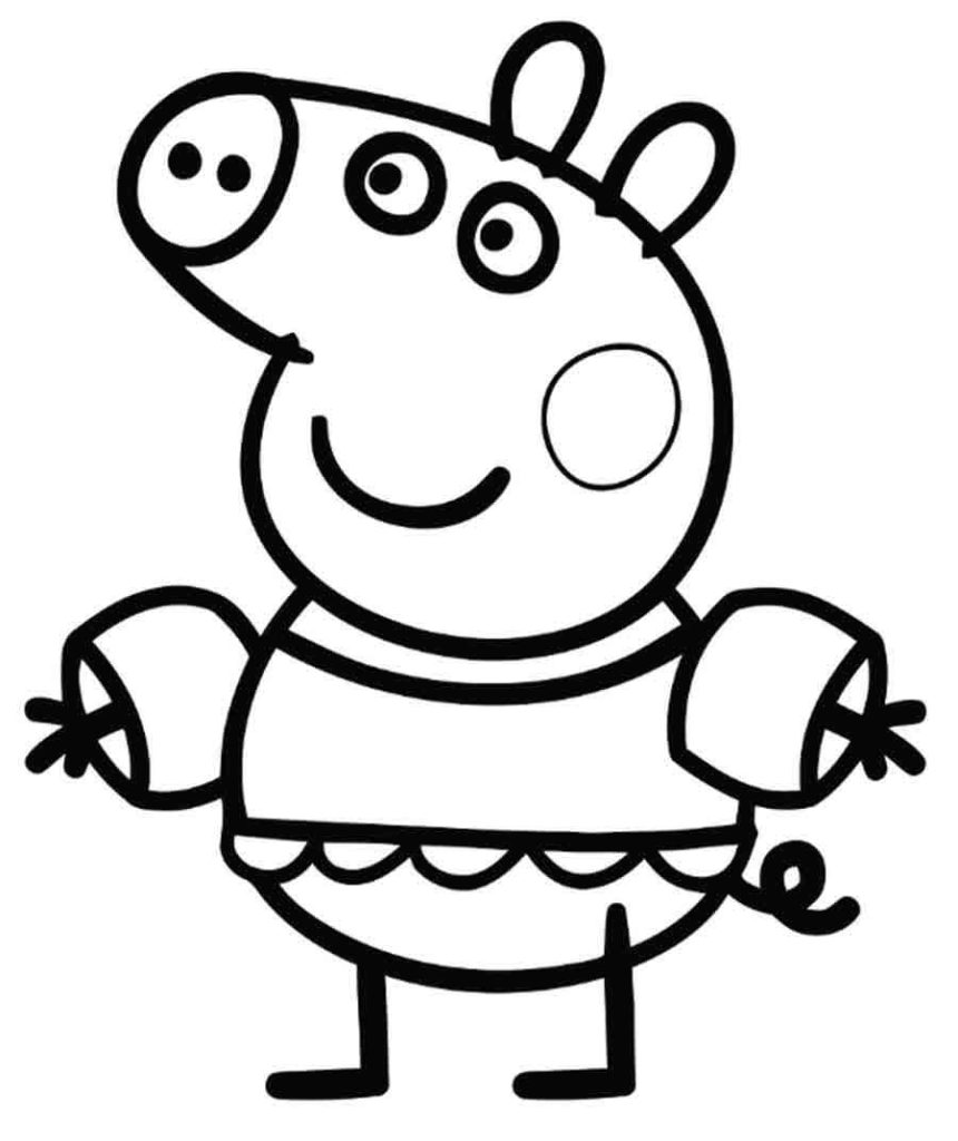 peppa pig coloring in peppa pig coloring pages coloring pages for kids peppa in pig coloring