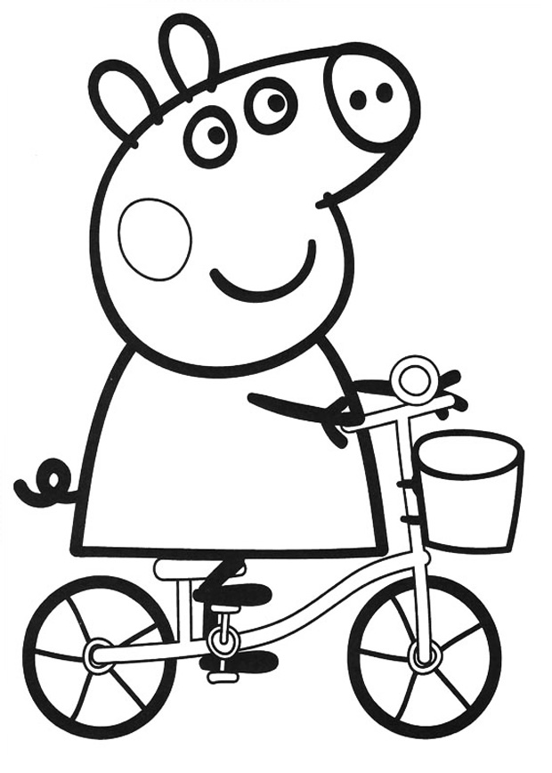 peppa pig coloring in peppa pig coloring pages to print for free and color pig peppa coloring in