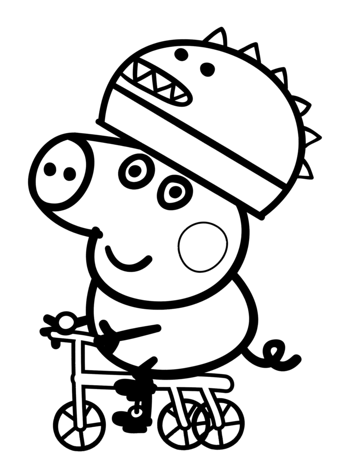 peppa pig coloring in peppa pig go swimming coloring page free printable pig peppa in coloring