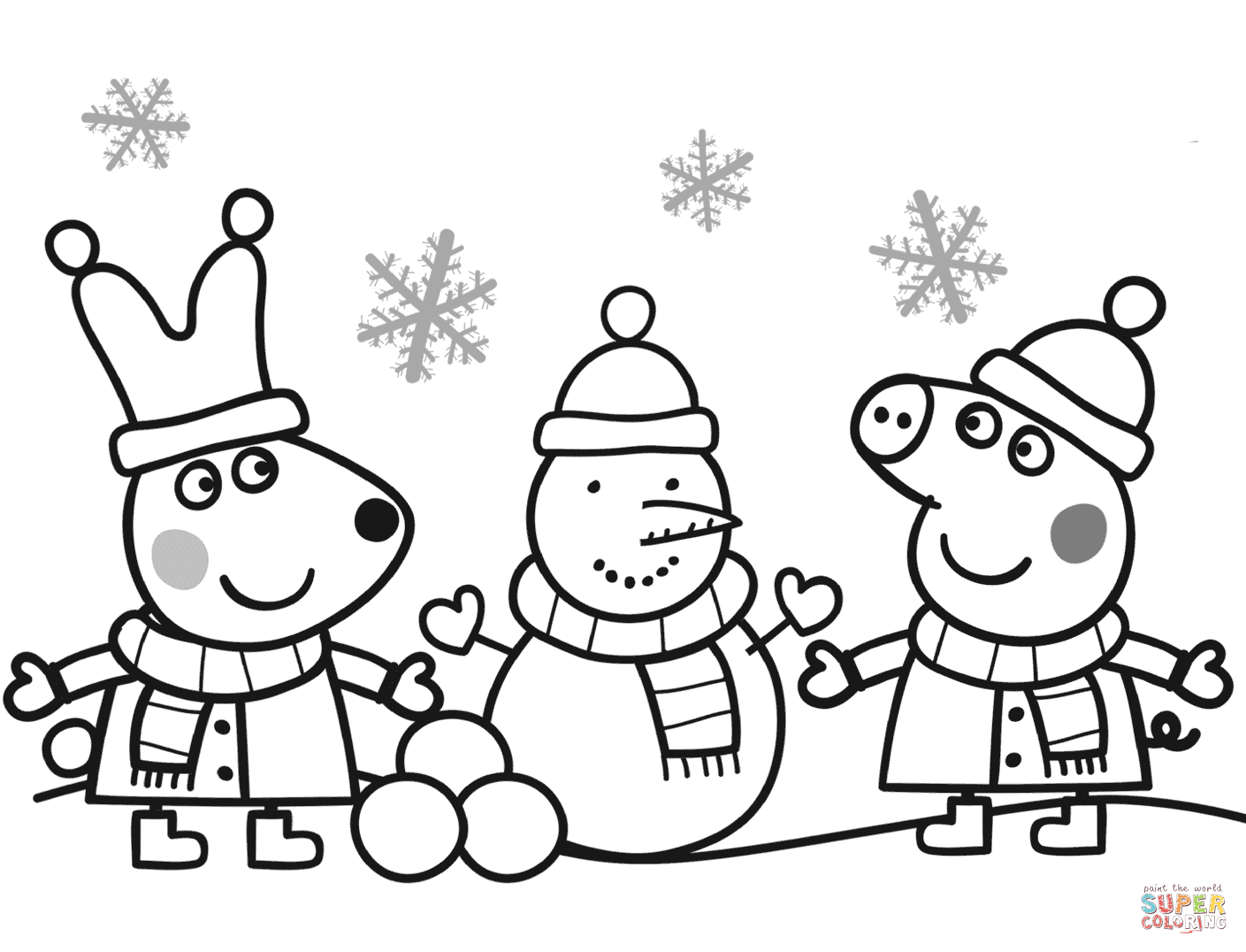 peppa pig colouring pages online peppa pig christmas coloring pages at getdrawings free online peppa colouring pig pages