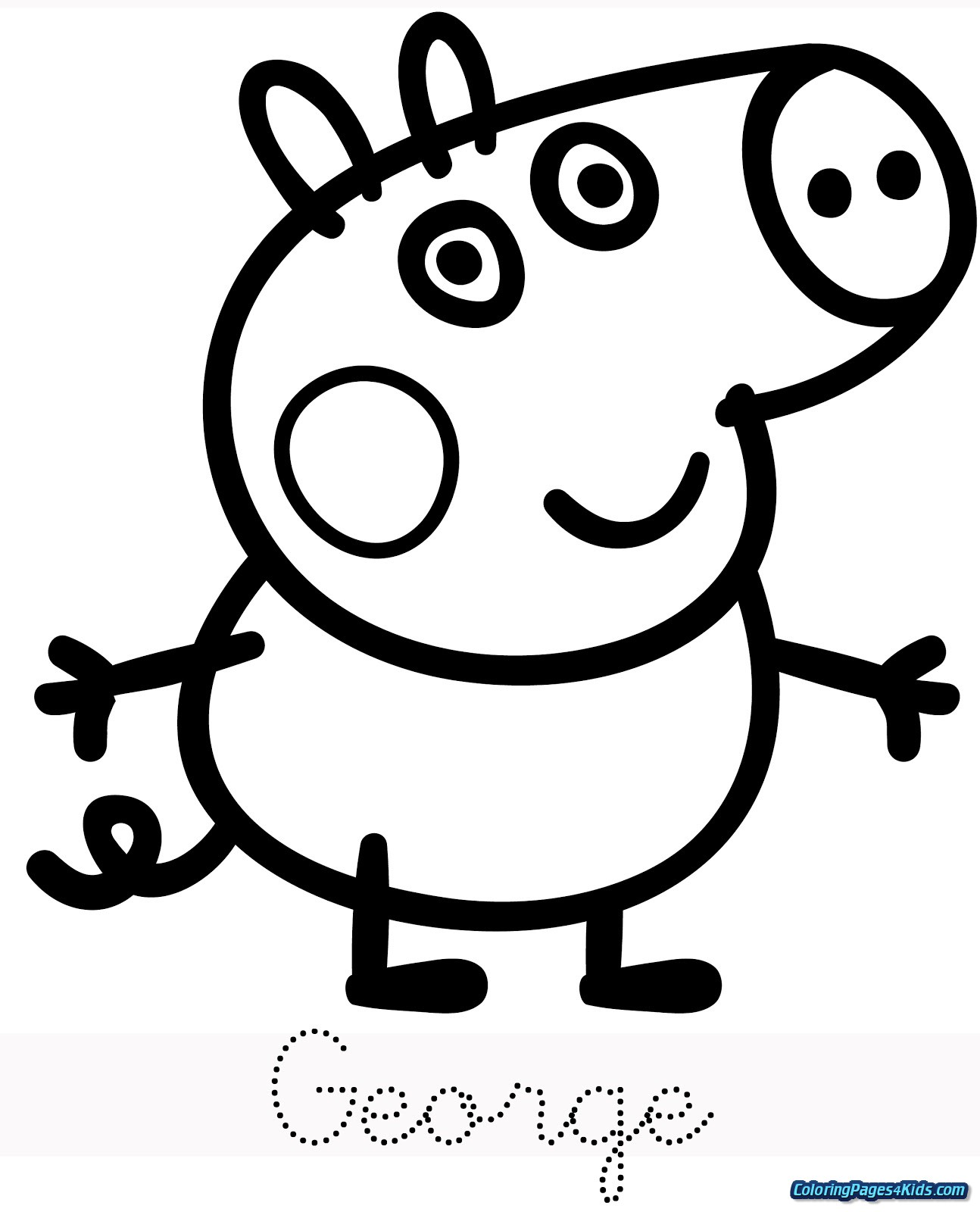 peppa pig colouring pages online peppa pig coloring pages getcoloringpagescom online pages peppa pig colouring