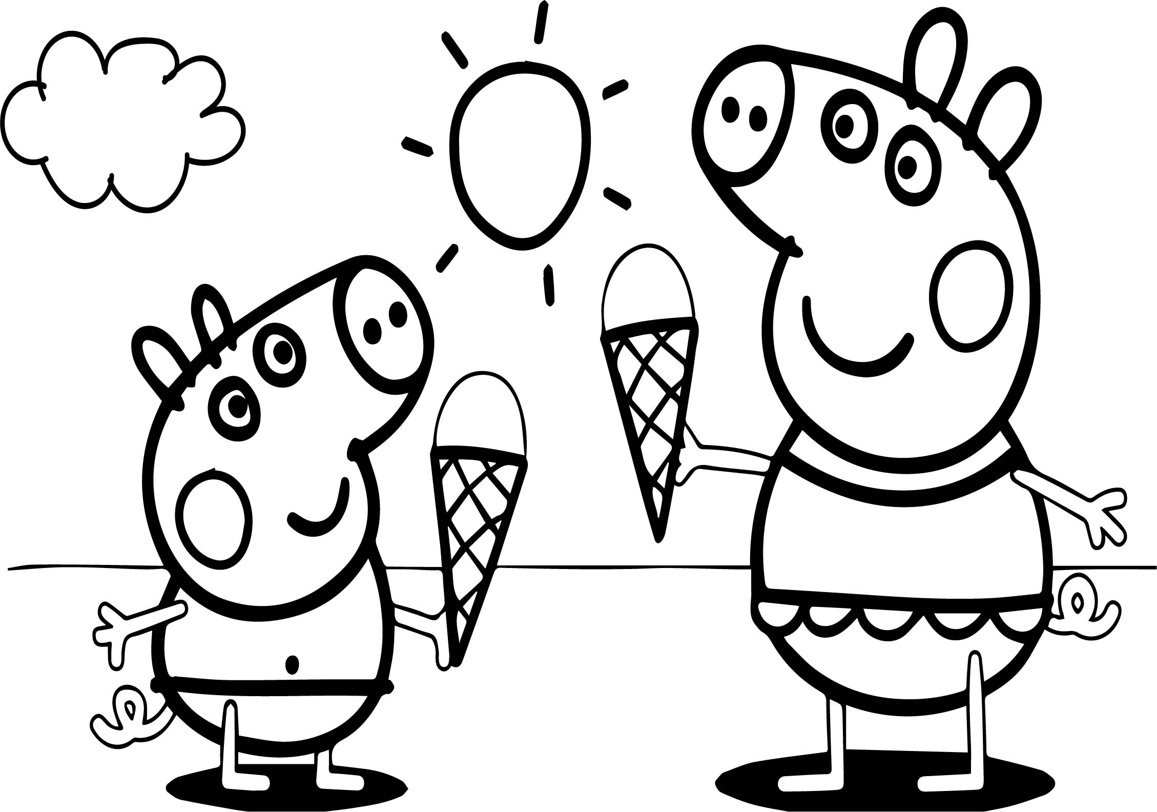 peppa pig colouring pages online peppa pig go swimming coloring page free printable pages colouring peppa online pig