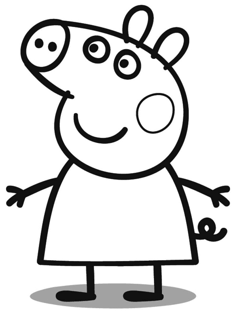 peppa pig colouring pages online top 20 printable peppa pig coloring pages online online peppa colouring pages pig