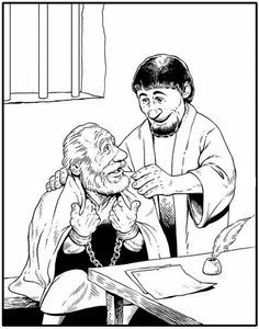 peters friends pray coloring page new testament heroes of the faith series epaphras the peters page friends pray coloring