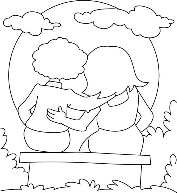 peters friends pray coloring page watching sunset together on friendship day coloring page peters friends pray coloring page