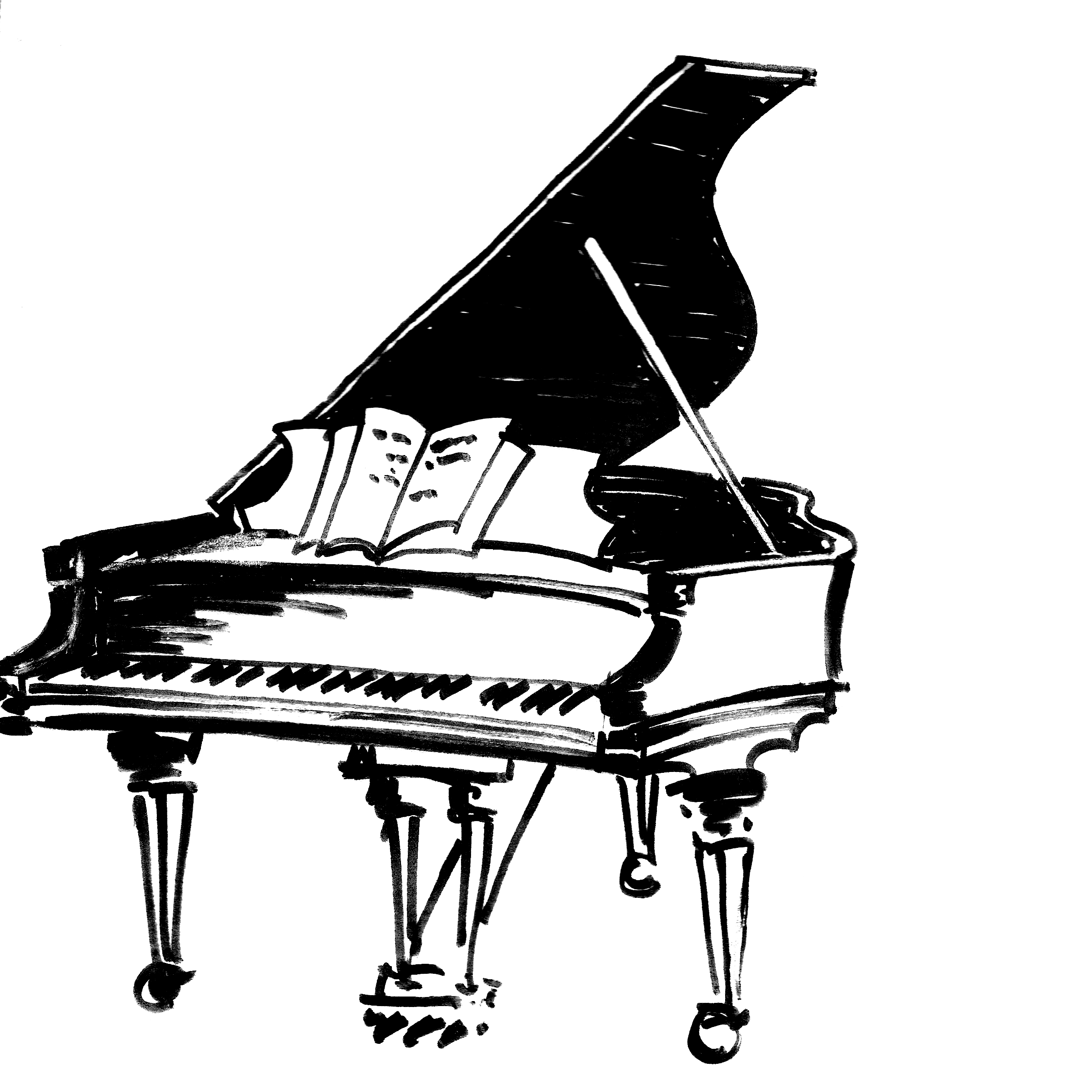 piano drawing how to draw a piano step by step percussion musical drawing piano